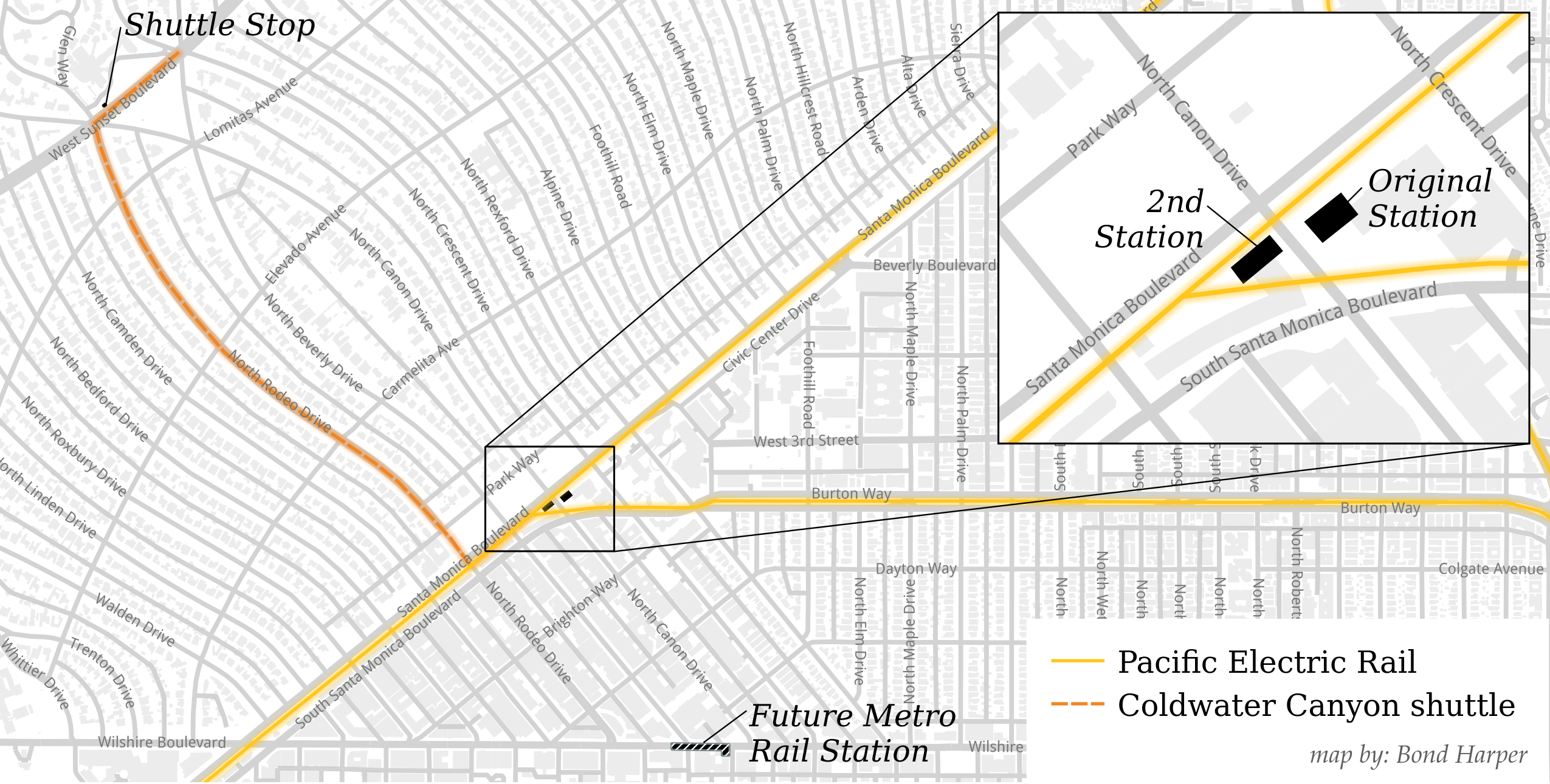Beverly Hills Station map